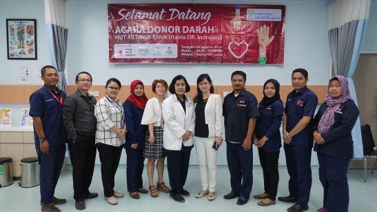 Donor Darah HUT 49 tahun Klinik Utama DR. Indrajana